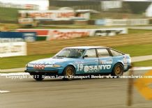 Rover 3500 SD1 . Peter Lovett. Photo. Silverstone 1982 BTCC (RAC Saloons)